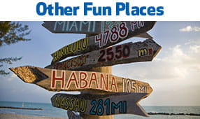 Other Fun Places - wooden signage pointing to a number of other destinations